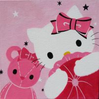 Hello Kitty and Teddy Bear by redfeathersibis
