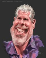Ron Pearlman caricature by jupa1128