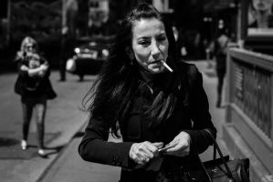 Portrait of Woman with Cigarette by IFedorovskaya