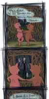 Little Pigs vs Slender Man by Carnie-Vorex