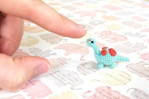 Mini Dinosaur Amigurumi by TheBittiestBaubles
