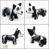 Skele-Corgi Pupple by LeiliaClay