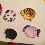 Chubby Animal Stickers  by Katcuty