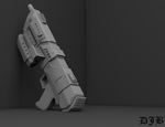 Star Wars Republic Commando Blaster Alt. View 3 by DJB-7