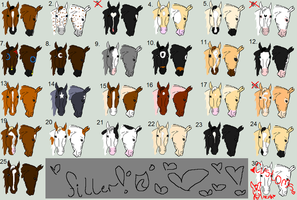 Horse Head Adoptables.:CLOSED:. by SnoHeartsMay