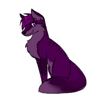 Purple Fox by HesperCambrie