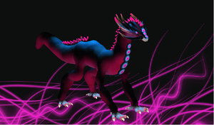 Neon Dragon by Elycian