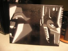 Transformers Prime Stencil Canvas Dry Run by humanwurm