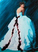 ACEO Gown Series II Red Ribbon by jensequel