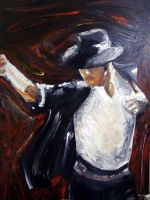 Michael Jackson Oil Canvas by Princess-rachael