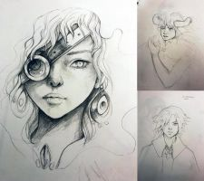 Pencil WIPs by TheAncientMasteress