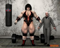 Bastienne Sanchez - Wrestler - 7ft 5in - 01 by theamazonclub