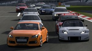 GT5 B-Spec 4 Hours of Nurburgring: The Start. by K9RASArt