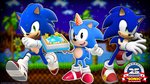 .:Sonic's 25th Anniversary Wallpaper:. by SweetStarryGalaxies