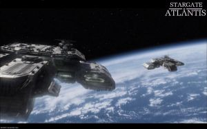 Stargate Atlantis Earth Ships by bb42001
