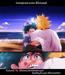 Boku No Hero Academia 95: Midoriya and All Might by AlexanJ