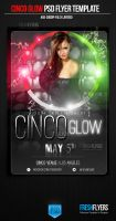 Cinco Glow Party Flyer Templates by ImperialFlyers