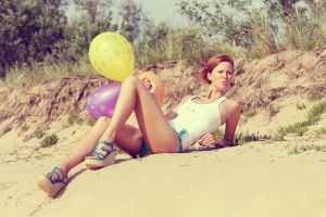 Girl With Balloons by MarijaBerjoza