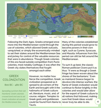 A Short Guide to Greek History: Greek Colonies by ToixStory