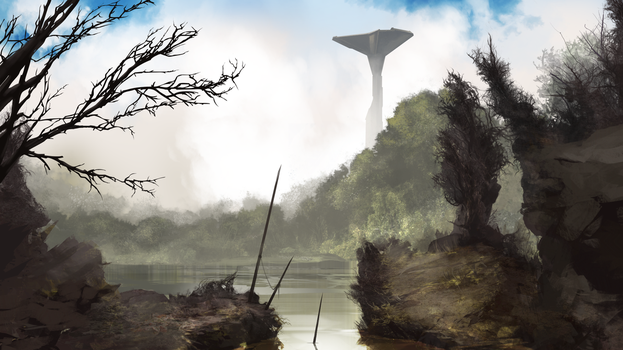 Forest/Swamp environment by Estrada