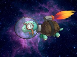 Turtle in Space by TalinComill