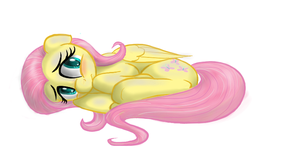 Fluttershy Curled Up by InMyDefence