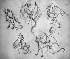Dragon Sketches by giselleukardi