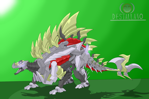 Snarl Stegosaurus Mode  by destallano4