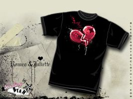 Romeo and Juliette T-Shirt by BleedingStarClothing