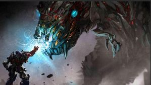 Grimlock and Optimus Age of Extinction concept art by eagc7