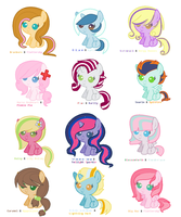 MLP Ship Adopts by CaptainPasta