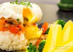Punctured poached egg by mario512bit