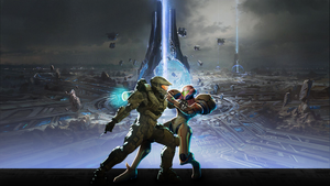 Samus Aran vs Master Chief by bulletreaper117