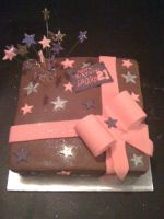 Chocolate Parcel Cake by SquishyPurpleCupcake