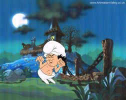Gargamel Smurfs Production cel by AnimationValley