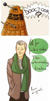 The dalek and the Capaldi. by pinkwater1211