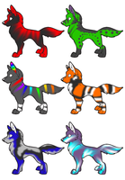 Chibi Wolf Adoptables -Open- by D-hedgehogadoptables