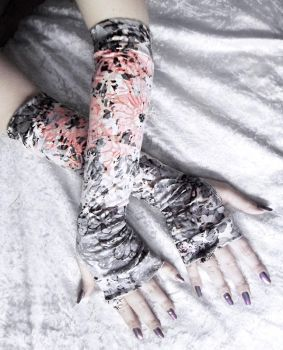Peony Arm Warmers by ZenAndCoffee