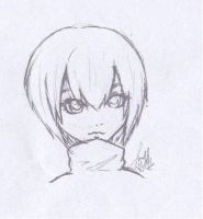 Black and white sketch by beloved-remi
