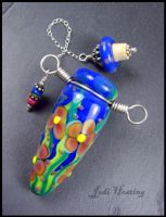 Stella - Glass Lampwork Bottle Pendant by andromeda