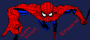 Spidey's Birthday by dwaynebiddixart
