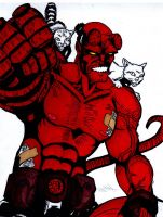 Hellboy Colored by skydemonx7