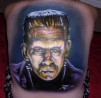 Frankenstein Close Up by Mr-Mordacious