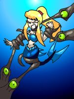 Mermaid Samus ensnared by BrokenTeapot