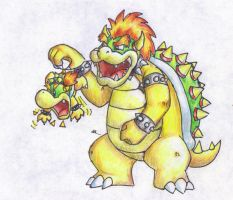 Bowser and Bowser Jr. by Dynastid