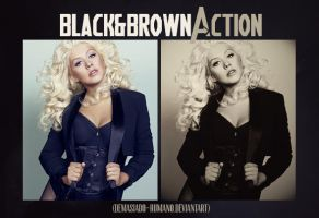 Black and Brown Action by demasiado-humano