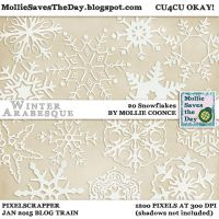 Winter Arabesque Snowflakes by Mollie-Coonce