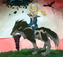 Midna and link by XnightkidsX