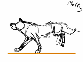Animation: Running wolf by Muffy13