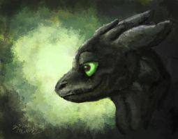 Toothless Painting by Shockshockshad
